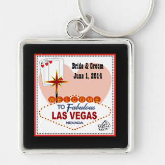 Las Vegas Pair of Hearts Keychain