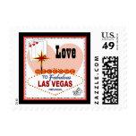 Las Vegas Pair of Hearts Love Postage