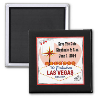 Las Vegas Pair of Hearts Save the Date Magnet