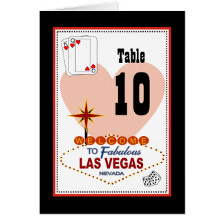 Las Vegas Pair of Hearts Table Card