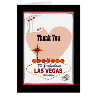 Las Vegas Pair of Hearts Thank You Card