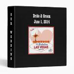 Las Vegas Pair of Hearts Wedding Binder