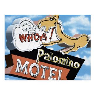 Las Vegas Palomino Motel Retro Neon Sign Postcard