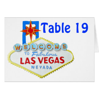 Las Vegas Parties Assigned Seating tent cards