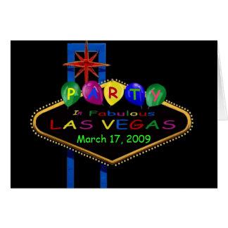 Las Vegas Party March 17, 2009 Card