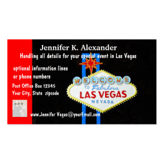 Las Vegas Party Planner Events Business Card