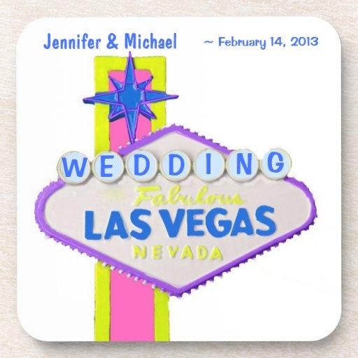 Las Vegas Pastel Colors personalized Sign Coasters