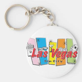 Las-Vegas-Pecado-Ciudad Llavero Redondo Tipo Pin