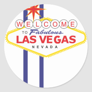 Las Vegas Pegatina Redonda