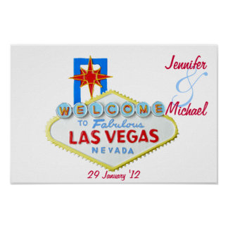 Las Vegas personalizado conmemorativo Poster