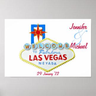 Las Vegas personalizado conmemorativo Póster