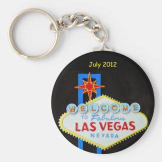 Las Vegas personalizado Llavero Redondo Tipo Pin