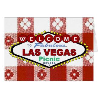 Las Vegas Picnic Invitation Card