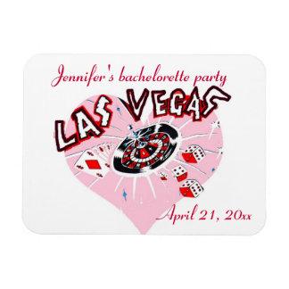 Las Vegas Pink Heart Bachelorette Party Rectangular Photo Magnet