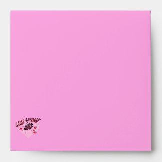 Las Vegas Pink Heart Envelope