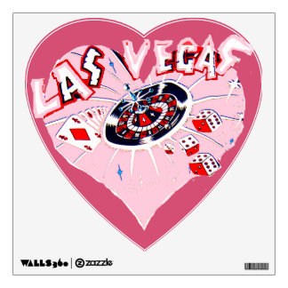 Las Vegas Pink heart Room Graphics