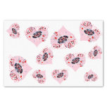 """Las Vegas Pink Hearts Girly 10"""" X 15"""" Tissue Paper"""