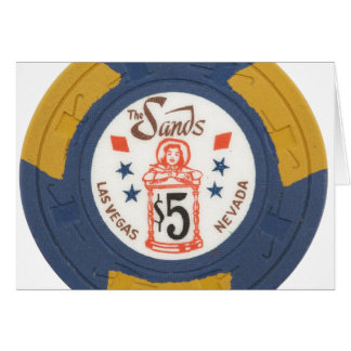 Las Vegas Poker Chip Casino Add Your Text Greeting Card