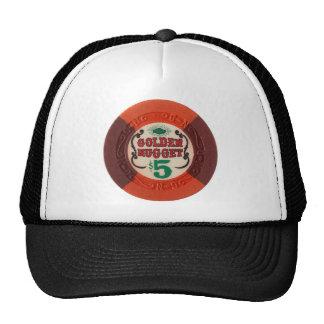 Las Vegas Poker Chip Casino Gambling Obsolete Mesh Hats