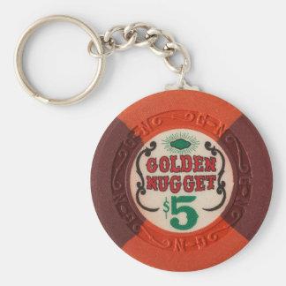 Las Vegas Poker Chip Casino Gambling Obsolete Keychain