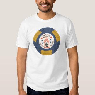 Las Vegas Poker Chip Casino Gambling Obsolete Shirts