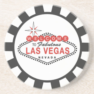 Las Vegas Poker Chip coasters