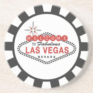 Las Vegas Poker Chip coasters