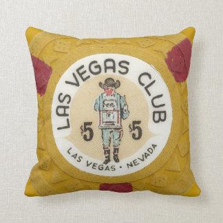 Las Vegas Poker Chip Slots Gambling Bachelor Party Throw Pillow