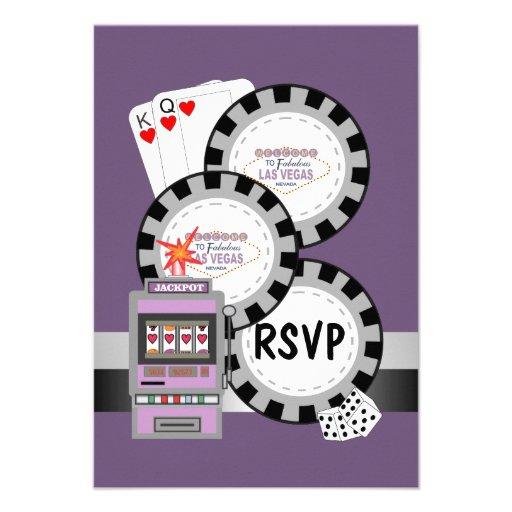 Las Vegas Poker Chips RSVP Card