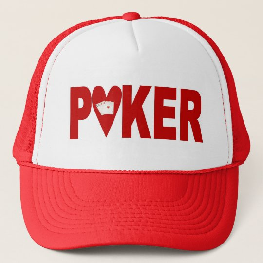 Las Vegas POKER Player Lucky Cap Hearts