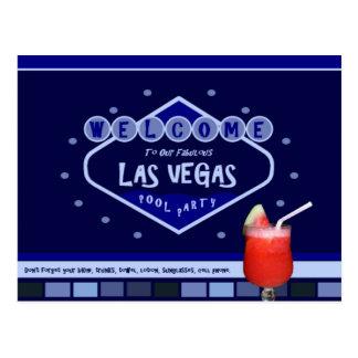 Las Vegas POOL PARTY Postcard