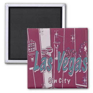 Las Vegas Pop Art Fridge Magnets