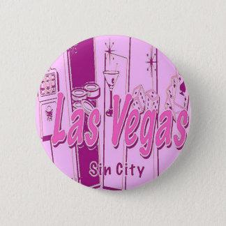 Las Vegas Pop Art Retro Button