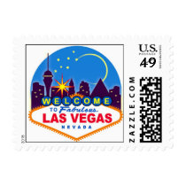 Las Vegas Post Card Stamp