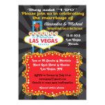 "Las Vegas Post Wedding Reception Invitations 5"" X 7"" Invitation Card"