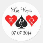 Las Vegas que casa a los pegatinas con el Pegatina Redonda