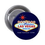 Las Vegas que casa el botón Pin Redondo De 2 Pulgadas