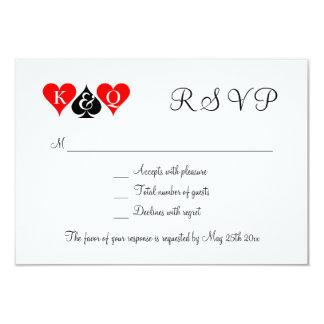 """Las Vegas que casa invitaciones de boda de RSVP Invitación 3.5"""" X 5"""""""