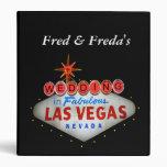 Las Vegas que casa la carpeta de anillo de las fot