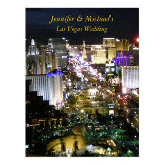 Las Vegas que casa la contestación de RSVP Postales