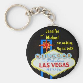Las Vegas que casa la fecha Llavero