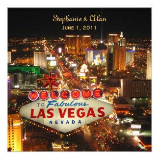 Las Vegas que casa la invitación con RSVP