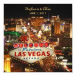 Las Vegas que casa la invitación con RSVP Invitación 13,3 Cm X 13,3cm