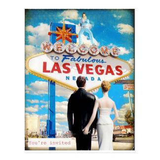 Las Vegas que casa la invitación Postales