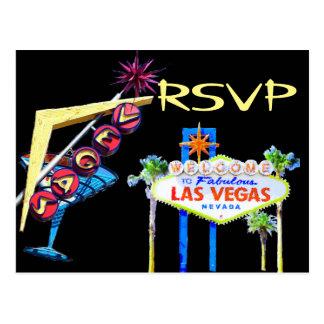 Las Vegas que casa la invitación RSVP Postal