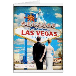 Las Vegas que casa la invitación Tarjeta De Felicitación