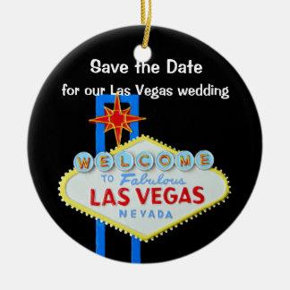 Las Vegas que casa reserva la fecha Ornamento De Navidad