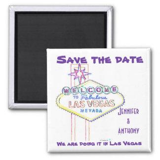 Las Vegas que casa reserva la fecha Imán Cuadrado