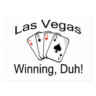 Las Vegas que gana Duh Postales