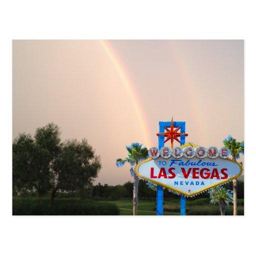 Las Vegas Rainbow Wedding Postcard | Zazzle